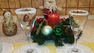 Как украсить бокалы для Новогоднего стола
