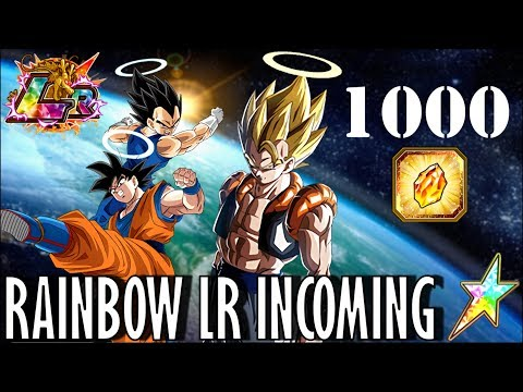 1000 STONES!!! Can we RAINBOW LR Gogeta?! DBZ Dokkan Battle