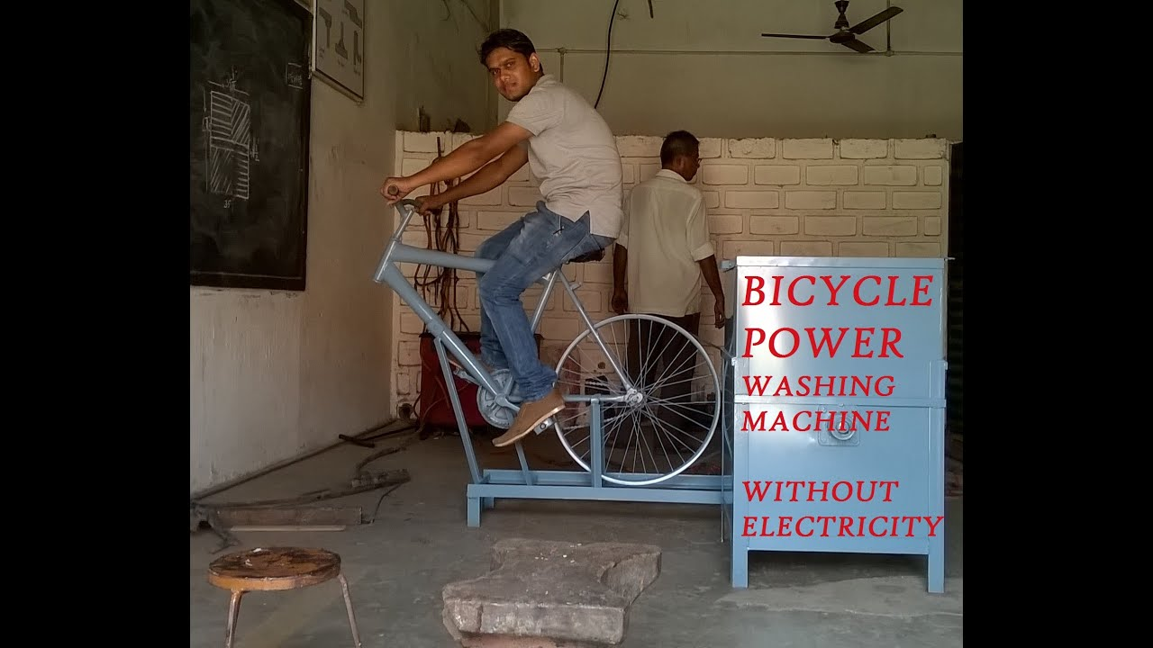 Exercise Bike That Washes Clothes: BICYCLE POWERED WASHING MACHINE PDF