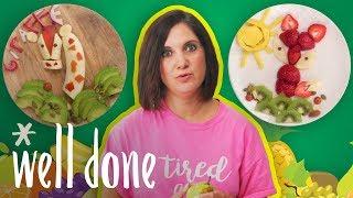 Mom vs. Food Art Fan Challenge | Mom Vs. | Well Done