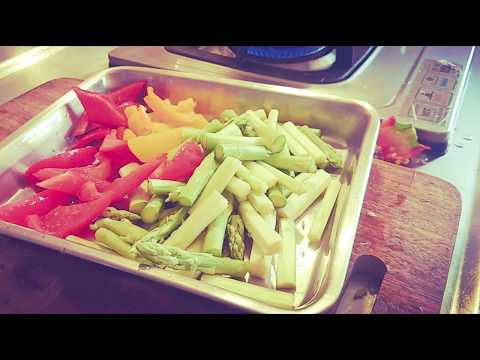 Stir -Fried Asparagus with Bell pepper and onion