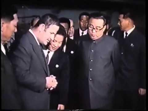 September 1974: Syrian President Hafez al-Assad in North Korea - with Kim Il Sung.