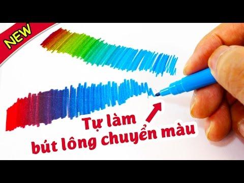 Tự làm bút lông chuyển màu, đơn giản mà quá hay - ToyStation 09