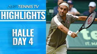 Federer Survives Tsonga Thriller; Zverev Also Advances | Halle 2019 Highlights Day 4