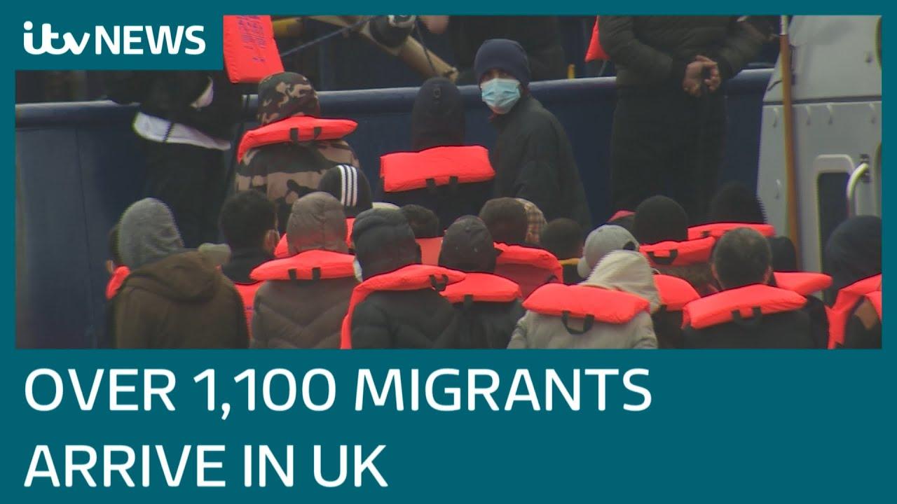 ITV News watches migrants arriving as over 1,100 cross English Channel in two days   ITV News