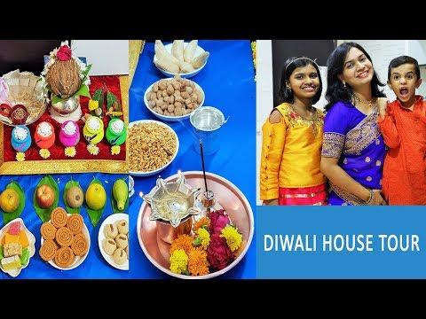 Diwali Celebrations | House Tour 2018 | Diwali Decoration | Diwali Recipes By Madhura