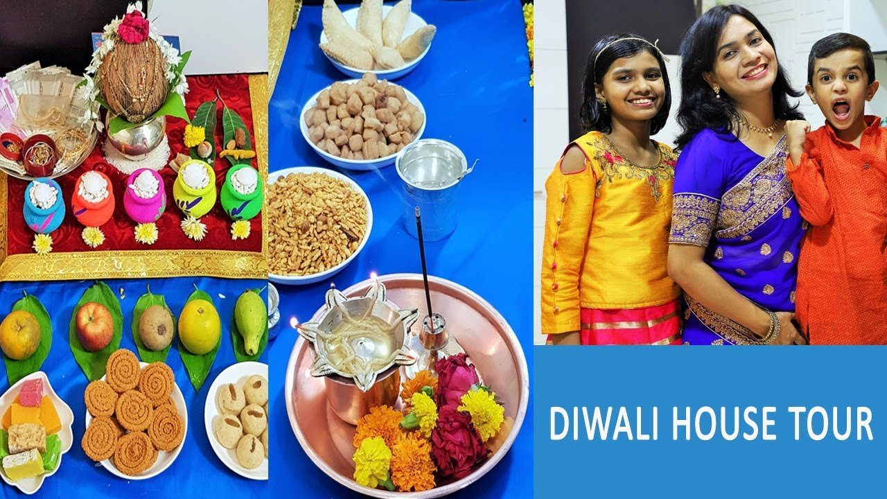 Diwali Celebrations | House Tour 2018 | Diwali Decoration | Diwali Recipes by Madhura - YouTube