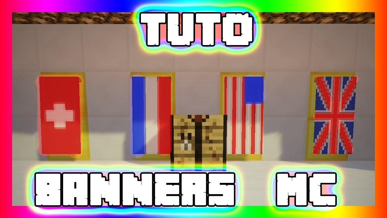 Comment Faire Les Drapeaux Francais Americain Suisse Et Anglais Sur Minecraftby Trapmax Fr