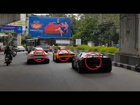 3 Lamborghini's Gone Crazy In Hyderabad| India