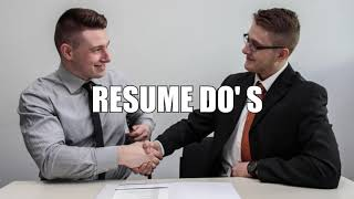 Resumes Overview- Part 3- Tips on Do's and Dont's - Work For Warriors NV