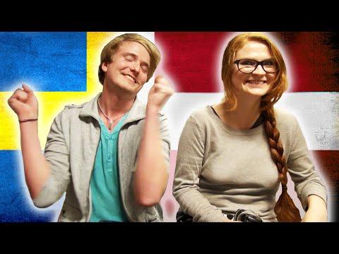 Svensk försöker prata danska - Dansk försöker prata svenska