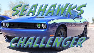 Quick Vid * Seattle Seahawks * Dodge Challenger Burns Rubber for the Ice Breakers Show