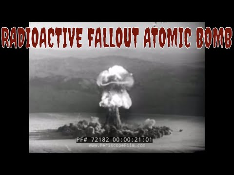 RADIOACTIVE FALLOUT ATOMIC BOMB TEST FILM 72182