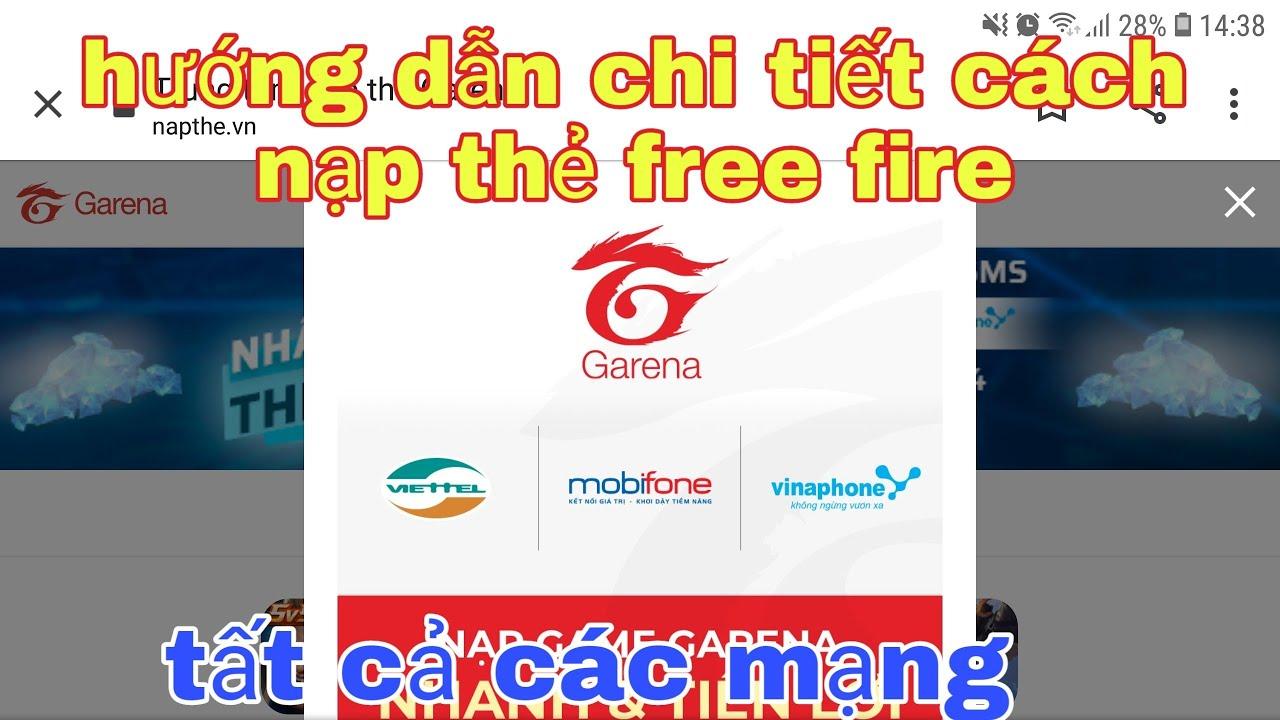 garena free fire| #191 hướng dẫn chi tiết cách nạp thẻ free fire@soái lang thang vlogs