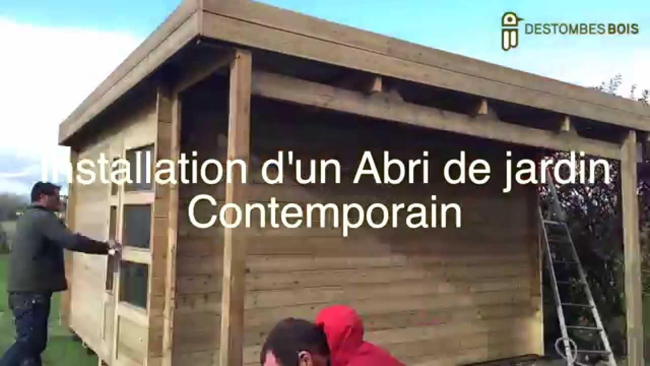 Destombes bois #2 montage d\'un abri contemporain