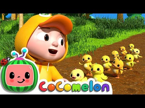Ten Little Duckies A Counting Song  ABCkidTV Nursery Rhymes & Kids Songs