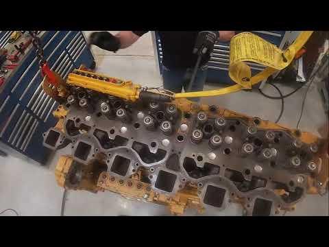 3406 Cat Cylinder Head Valve Bridge Push Tube And Overhead Install