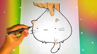 Как нарисовать милого КОТЁНКА? Лёгкие рисунки для срисовки