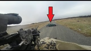 US Army Helmet Cam Of Humvee Machine Gunners Taking Out SVBIEDs During Simulated Combat Training