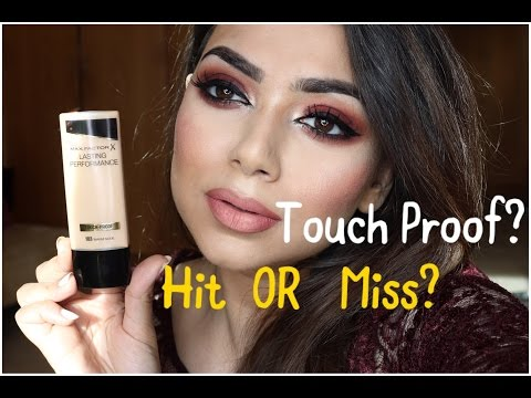 TOUCH & TRANSFER PROOF FOUNDATION?  MAX FACTOR LASTING PERFORMANCE FOUNDATION - REVIEW