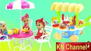 KN Channel Đồ chơi nhà bếp BÚP BÊ NẤU ĂN BẰNG XE BẾP KỲ LẠ