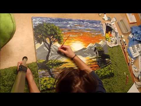 SPEED PAINTING ACRYLIC LANDSCAPE