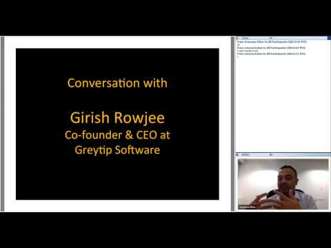 344th 1M/1M Roundtable March 16, 2017: With Girish Rowjee, Greytip Software