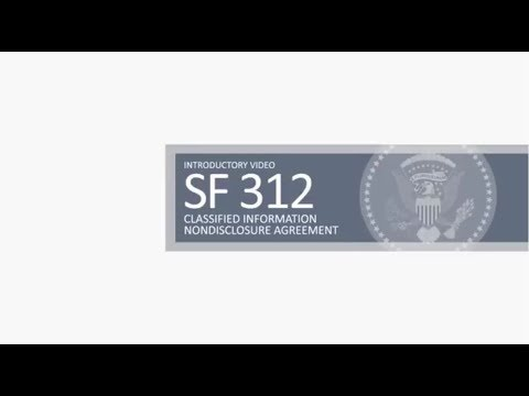 Standard Form 312 Sf 312 Youtube