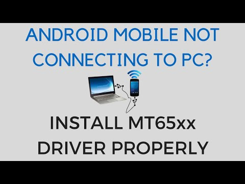 How to Install MT65xx Android Driver in PC | Connect Android