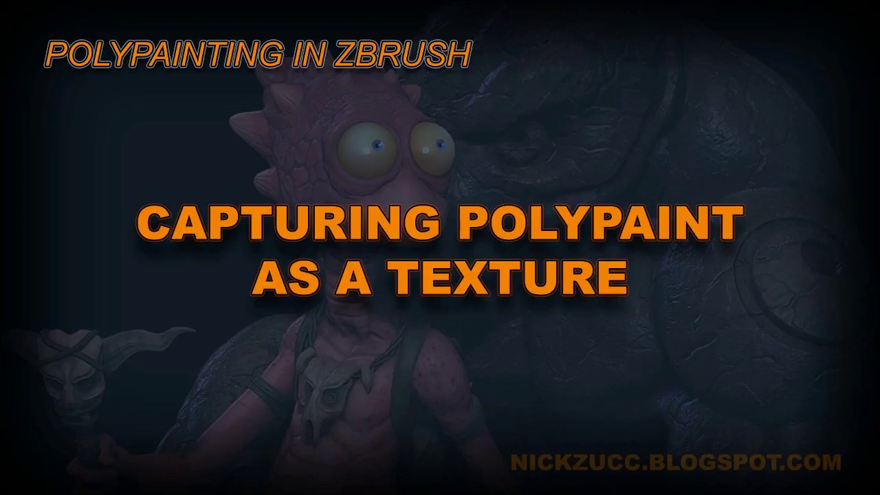 Poly Painting In ZBrush 003 Capture Poly Paint Texture