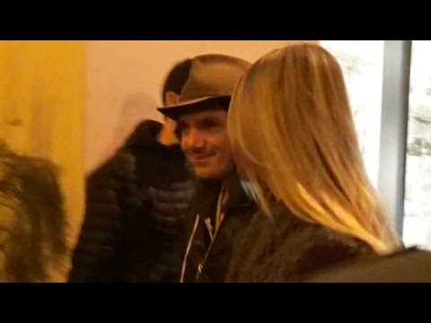 Lukas Haas Takes Sexy Blond To Dinner