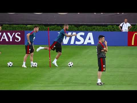 Training session the Spanish national football team