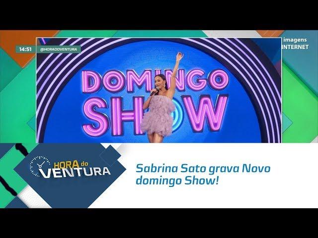 Sabrina Sato grava Novo domingo Show-   Bloco 02