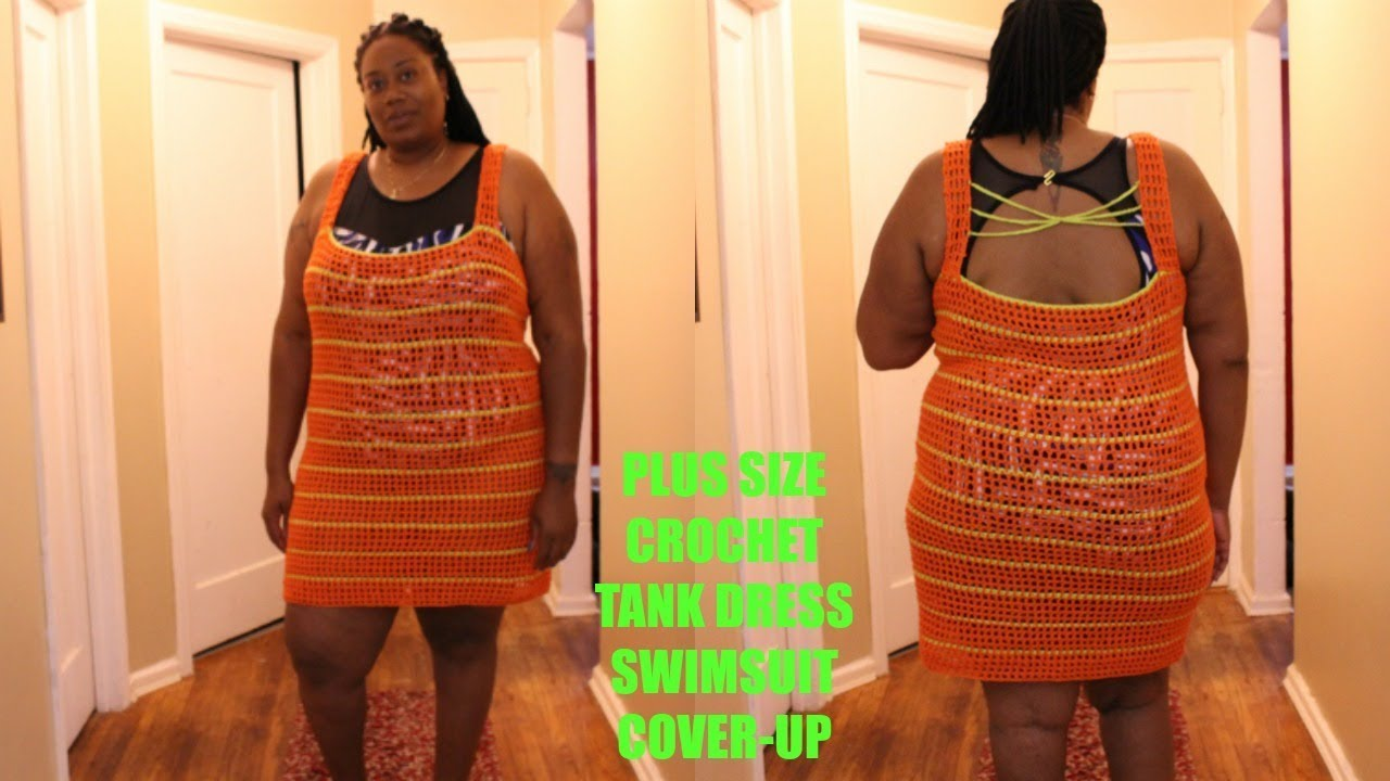 ff40d3fee69 PLUS-SIZE CROCHET TANK DRESS SWIMSUIT COVER-UP (DIY)
