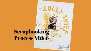 Scrapbooking Process Video - For The Love Of Pretty Paper - Skull and Cross Buns