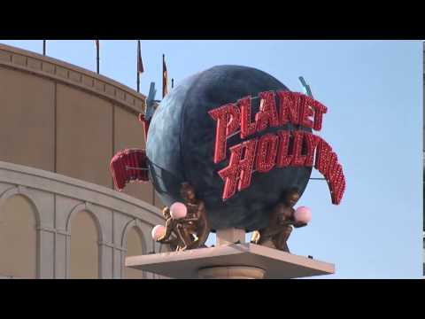 Planet Hollywood Restaurant Spinning Globe Las Vegas near Caesars Palace Hotel and Casino The Strip