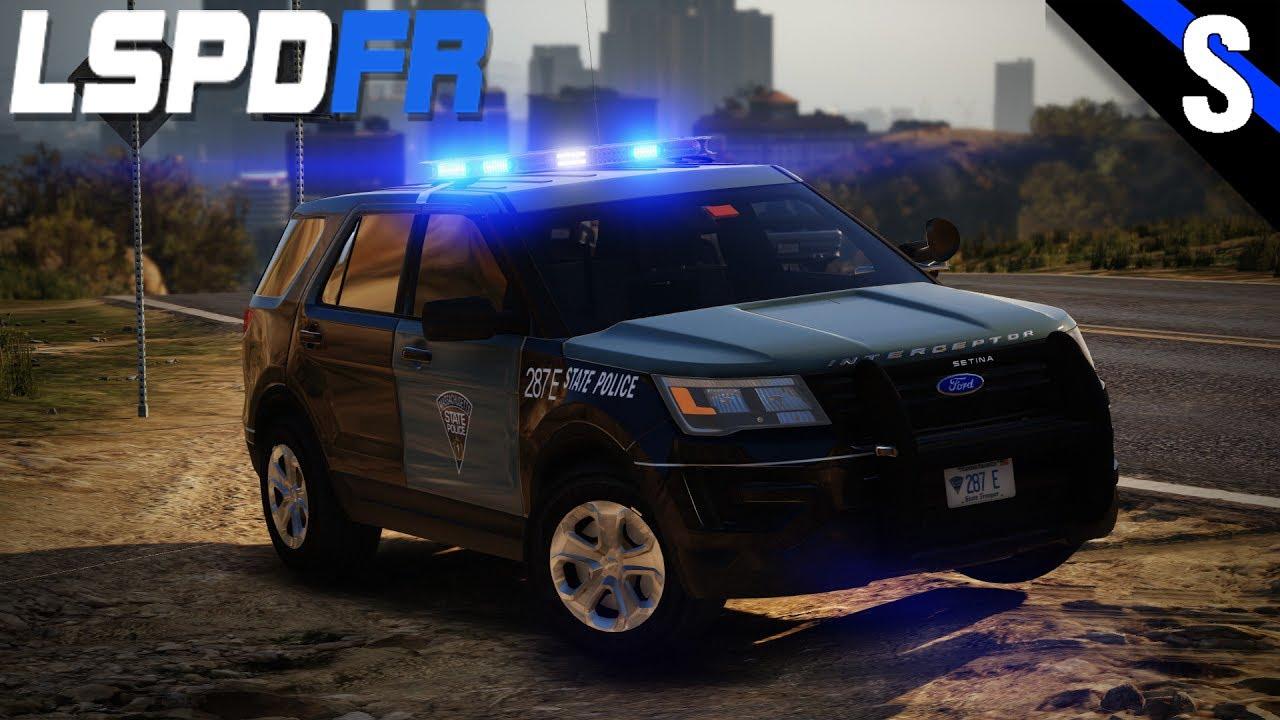 GTA V LSPDFR #185 Massachusetts State Police 2017 Ford Explorer