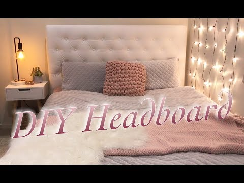 DIY DIAMOND TUFTED HEADBOARD | Tegan Lewien