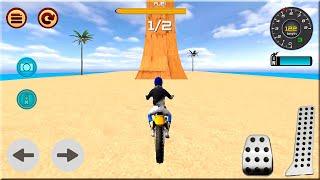 Motocross Beach Race Jumping 3D #Dirt Motor Cycle Racer Games