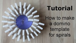 Tutorial: How to make a domino template for spirals