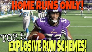 🛑CAN'T BE STOPPED🛑 Top 5 MOST EXPLOSIVE Run Play Schemes 2 use in Madden 20!