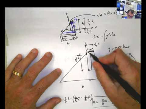 Ch  10-6 Moment of Inertia of a Triangle with Respect to the Centroid  LOOKS EASY but....