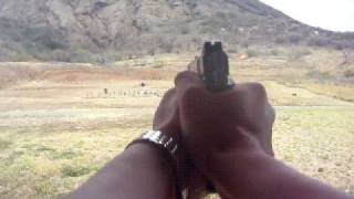 Colt 1911 .45 ACP shooting at 200 yards.實彈射擊影片分享AVI