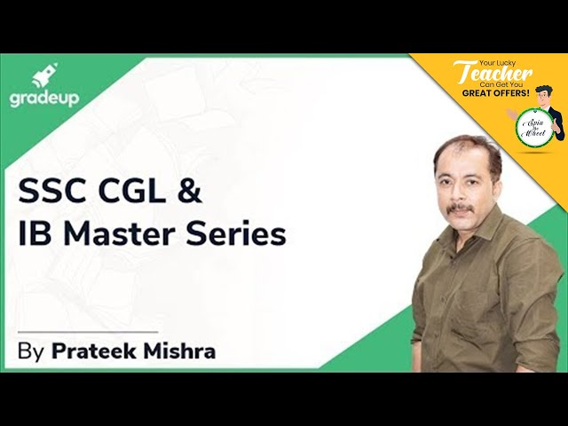 SSC CGL & IB Master Series || Quantitative Aptitude || Introduction || Prateek Sir