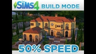 50% Speed:  The Sims 4 Build Mode Video