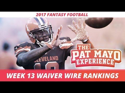 2017 Fantasy Football - Week 13 Waiver Wire Rankings, Injuries, Recap + MORE