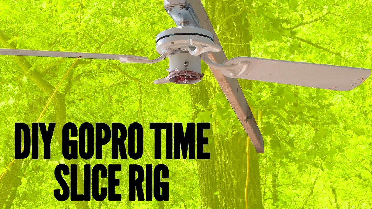 How to create a DIY Matrix bullet time/time slice rig using a ceiling fan and a GoPro