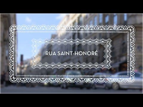 A Rua Saint Honoré, em Paris