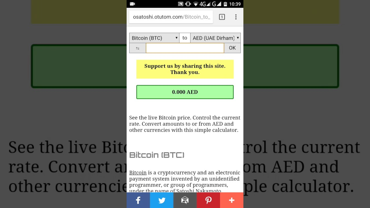 bitcoin aed