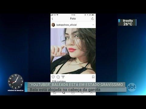 Youtuber de 14 anos é baleada na cabeça no litoral do Paraná | SBT Brasil (14/02/18)